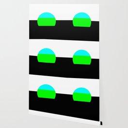 Aqua Blue & Green Mod Art Wallpaper