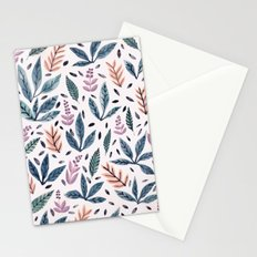 Painted Leaves Stationery Cards