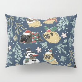 Christmas Pugs Pillow Sham