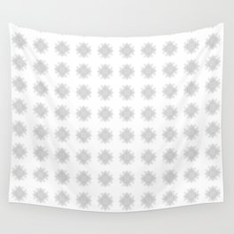 White Decorative Flower Pattern Wall Tapestry