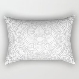 Bali Mandala - Neutral Grey Rectangular Pillow