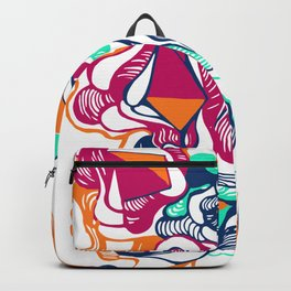 Abstract color artsy Backpack