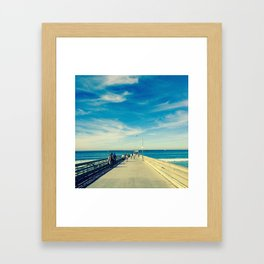 Pier Blue Framed Art Print