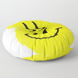 Smiley Glitch Floor Pillow