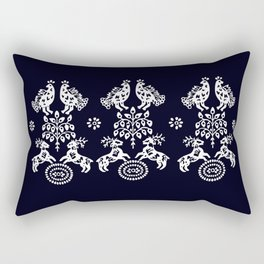 Blueprint deers, birds and Tree od life Rectangular Pillow