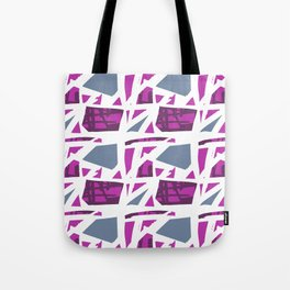 Abstract modern pink blue geometrical pattern Tote Bag