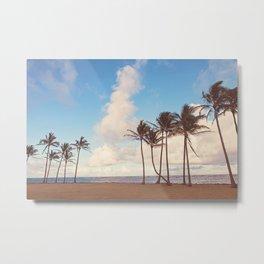 Kauai Palm Trees Metal Print