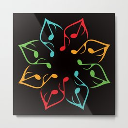 Music Flower Metal Print