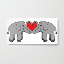 Elephant Heart Metal Print