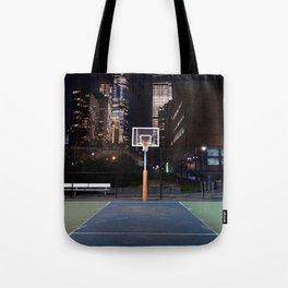Basketball court New York City Tote Bag