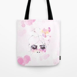 Speechless Girl - My pink sadness in watercolors Tote Bag