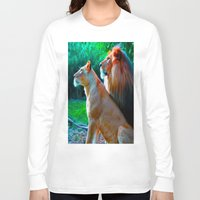 lions Long Sleeve T-shirts featuring Loyal Lions by 13th Moon Social Club