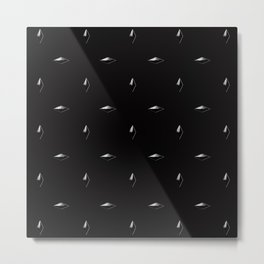 White Studs on Black Metal Print