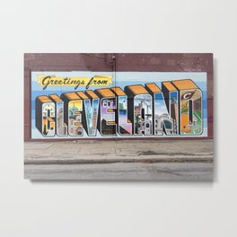 Greetings From Cleveland Metal Print