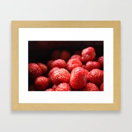Sweet strawberries Framed Art Print