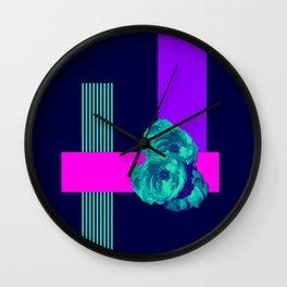 Neon Roses #society6 #roses Wall Clock