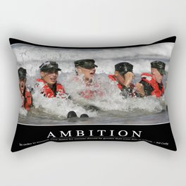 Ambition: Inspirational Quote and Motivational Poster Rectangular Pillow