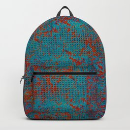 Turquoise with Red Backpack