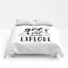 travel lettering Comforters