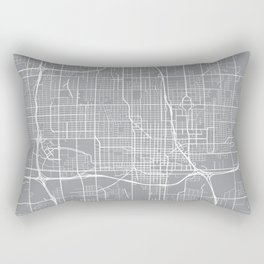 Oklahoma City Map, Oklahoma USA - Pewter Rectangular Pillow