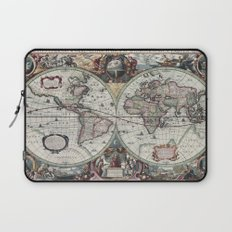 Antique World Map 1630 Laptop Sleeve