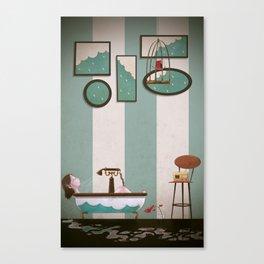 Soaked and Sleepy Canvas Print