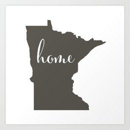 Minnesota is Home Art Print