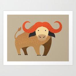 Whimsy Cape Buffalo II Art Print