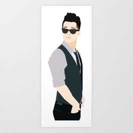 Brendon Urie Illustration Art Print