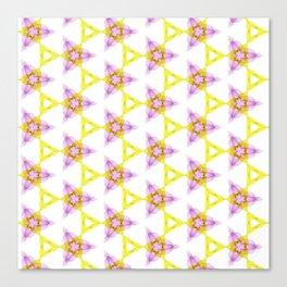 Bright Yellow Lilac Pattern Design Canvas Print