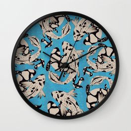 Speckled Koi Wall Clock