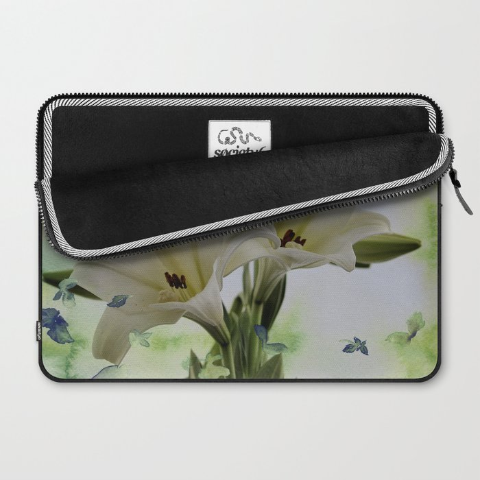 White Lily Laptop Sleeve