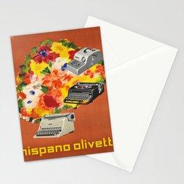 Advertisement hispano olivetti  ecrire Stationery Cards