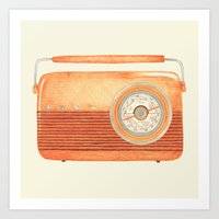 radio Art Prints featuring Radio Silence by One Curious Chip