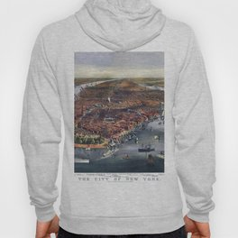 Gang of new york city old map Father Day art print poster Hoody