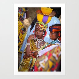 Fulani girl, Burkina Faso Art Print