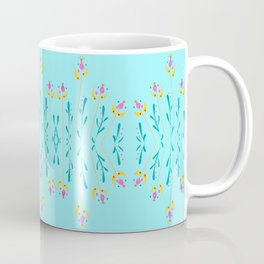 Sky Blue Floral Coffee Mug