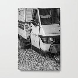 Mobile coffee vendor Metal Print