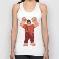 wreck it ralph Tank Tops featuring I'm Gonna Wreck It! by shaunaoconnor