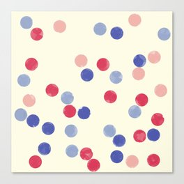 WATERCOLOR CONFETTI Canvas Print