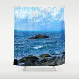 Traveling south Shower Curtain