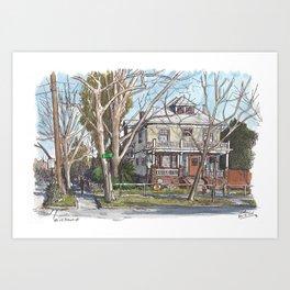 Schmeiser House, Davis Art Print