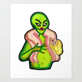 Bad Alien Art Print