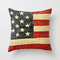 history Throw Pillows featuring History by Chris Klemens