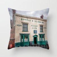 bar Throw Pillows featuring Victorian Bar by Adrian Evans