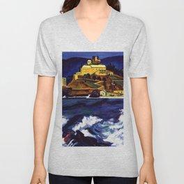 Cinque Terre, Italy Convent von Monterosso al Mare by Hermann Max Pechstein Unisex V-Neck