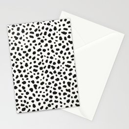 Black and white polka dots Stationery Cards