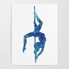 Pole dancer underwater Poster