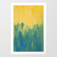 Palette colours - yellow Art Print