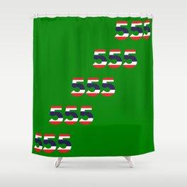 555  Thai flag Shower Curtain